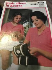 Vintage Crochet Knitting Pattern Book Patons 335 Azalea  ladies womens