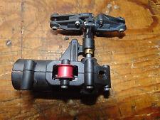 RAPTOR 30/50 assieme scatola ingranaggi del rotore di coda C/W rosso ruota in lega TENDICATENA