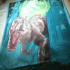 """Universal Jurassic World Prehistoric 46"""" x 60"""" Kids Plush Throw, Universal Rare"""