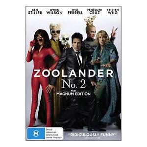 Zoolander No. 2 DVD PAL Region 4 New - Ben Stiller - Comedy, 102 Mins (M)