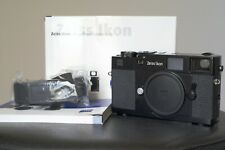 SERVICED ZEISS IKON ZM ZI BLACK RANGEFINDER M Mount Leica M6 M7 RARE CLA'D box