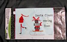 New listing Lang Santa Claus is Coming to Town Mailbox Cover Standard Box Wrap w/Numbers