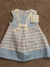 JILLIAN'S CLOSET Blue & White Sailor Dress. Lined. Size 3-6 Months. NEW.