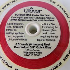 """Clover Red Fusible Bias Tape 6.5 yards Doublefold 3/4"""" Quick Bias 100% Cotton"""