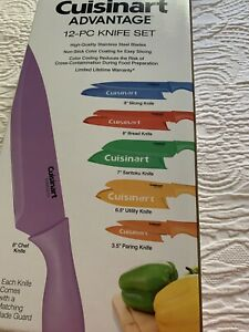 Cuisinart Advantage Color Collection 12-Piece Knife Set NEW IN BOX