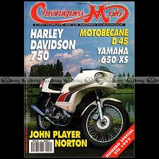 CHRONIQUES MOTO N°41/42 YAMAHA XS 650 MV AGUSTA 125 HARLEY DAVIDSON WLA 750 WLC