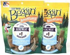 (2) Purina Beggin Adventures Real Bacon Turkey Duck Quail Dog Treats 5.5 Oz