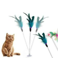New listing Pet Cat Toy Spring /Suction Cup /Bell Mice Mouse Feather Toy Hot Funny Fur J8U6