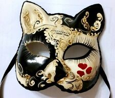 Amore Cat Mask - Italian Made - OVERNIGHT TO YOU -Fancy Dress or Home Decor Mask