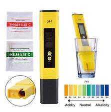 Yellow Protable on/off PH Meter Tester Aquarium Pool Water LCD Pen Monitor