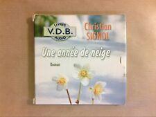 AUDIO LIVRE / POCHETTE 5 CD / UNE ANNEE DE NEIGE / CHRISTIAN SIGNOL / TTB ETAT