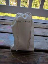 6 x 8 Inches Cotton Muslin Bag. Double Drawstring High Quality Bags. - Qty: 100