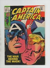 Captain America #114 - Romita Cover - The Man Behind The Mask! (Grade 6.0) 1969
