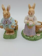 Avon Springtime Collection/ Easter Bunnies With Votive Candles