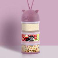 AU_ Baby Milk Powder Dispenser Portable Food side open Container Storage Feeding