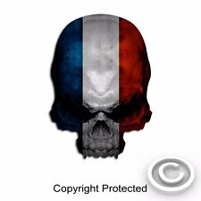 "France Flag Skull Decal Vintage French Sticker Paris Graphic 6"" size"
