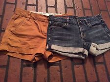 J Crew women shorts. Lot of 2.  Size 0. Chino Broken In and Hipslung