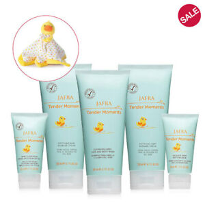 JAFRA Baby Tender Moments BABY COLOGNE 5 PIECE SET +FREE PLUSH DUCK BLANKET