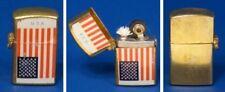 1960's AMERICAN USA FLAG MINIATURE US FLIP-TOP Mini LIGHTER Working JAPAN NEW