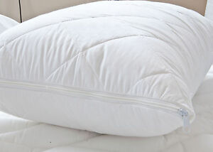 Anti Allergy Standard Pillow Protector PAIR 100% Simply Cotton Zipped Closing