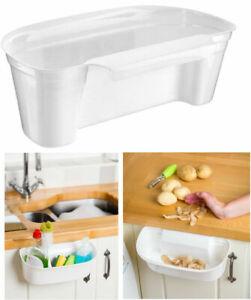 Handy Kitchen Caddy White Cut/Collect Mini Scrap Waste Bin and Storage Solution