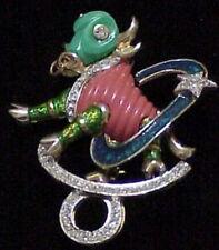 Denicola  coral and jade Taurus astrological zodiac star pin