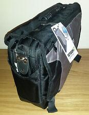NEW BLACK BRIEFCASE SATCHEL STRAP BAG MESSENGER LAPTOP HAND LUGGAGE WORK TRAVEL
