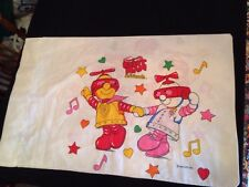 Vtg Robot Man & Friends pillow case for bedroom bed cotton sheet boy girl 1984