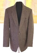 eJOVEN by FARAH Men's 40S Brown TWEED 100% Pure Wool Vintage Sport Coat Blazer