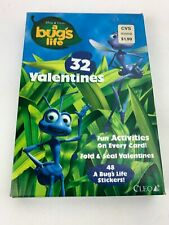 Disney - A Bugs Life 32 Fold & Seal Valentines / 48 Stickers Vintage