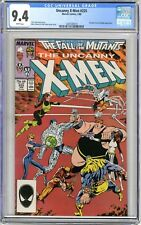 X-Men  #225  CGC   9.4   NM   White pages  1/88  Freedom Force & Magik App.