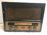Spartan AM Tube Radio in Wooden Case for Parts & Restoration