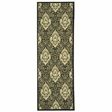 Safavieh Black/Sand Indoor/Outdoor Rug 2' 3 x 6' 7 Runner