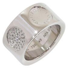 LOUIS VUITTON DiamondS Grand Berg Empreinte Ring 18K White Gold US5.5 EU49 D3645