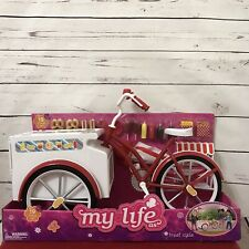 My Life As A Hot Dog Bike Cycle and Treat Cart - Accessory for 18-inch Dolls