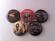 5 Steel Panther Pin Button badges 25mm Hair Metal Motley Crue LA Asian Hooker