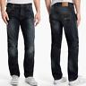 Nudie Herren Regular Straight Fit Jeans Hose   Hank Rey Indigo Depth