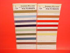 1958 PLYMOUTH BELVEDERE CONVERTIBLE FURY SAVOY PLAZA SUBURBAN PAINT CHIPS SW