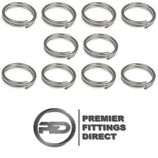 10 PACK OF 1.5MM x 18MM SPLIT RINGS / COTTER PINS STAINLESS STEEL