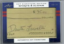 2012 Leaf Sports Icons - DANTE LAVELLI - Cut Autograph #d 6/25 - BROWNS