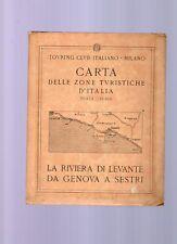 carta touring club -  la riviera di levante,genova1919