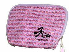 Streamline NYC Cosmetics Pink & Purple Letters Daisy & Lilly Vinyl Case