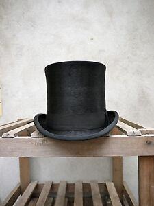 Polished Melusine Taller Top Hat by Christys' of London – Black Fur Felt Topper