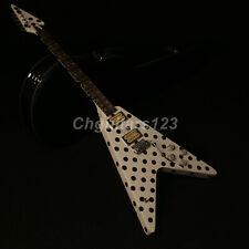 ZuWei Handmade Dot Top Flight V Electric Guitar Tremolo Bridge Humbucker Pickups
