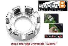 """4323 - Disco Tiraraggi Universale """"SuperB"""" 7/Mis. per Bici 26-28 Corsa Strada"""