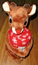 RUDOLPH the red nosed REINDEER PLUSH TOY HUGGER & THROW BLANKET SET NEW!