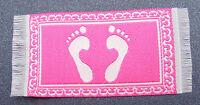 1:12 Scale 7cm x 3.5cm Pink Bath Room Feet Rug Mat Tumdee Dolls House Carpet 94a