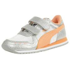 PUMA Cabana Racer Glitz V Inf Sneaker Schuhe Baby Mädchen silber 370986 04