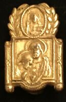 Vintage Catholic Remembrance Of First Holy Communion Gold Tone Pin