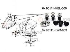 Honda CBR1000RR 2004-2005 stainless steel screen fairing bolts rubber well nuts